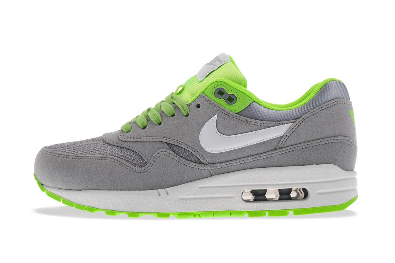 """Nike Air Max 1 FB """"Venom"""" Wolf Grey/White-Flash Lime"""