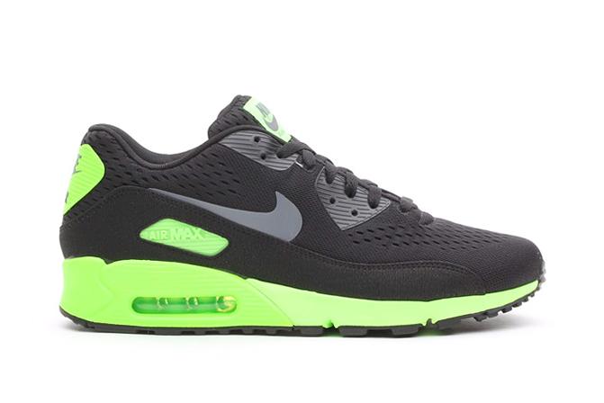 Nike Air Max 90 EM Black/Dark Grey-Flash Lime
