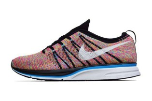 Nike Flyknit Trainer+ Black/White-Blue Glow-Volt