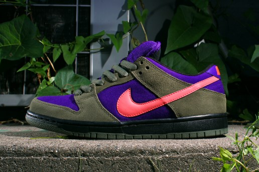 Nike SB Dunk Low Pro - Olive/Atomic Red-Electric