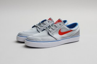 Nike SB Zoom Stefan Janoski PR Metallic Silver/University Red