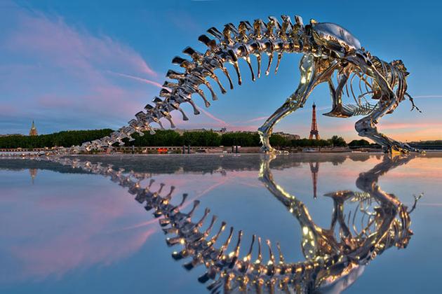 Philippe Pasqua's Life-Size T-Rex is Invading Paris