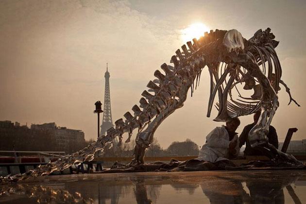 philippe pasquas life size t rex is invading paris