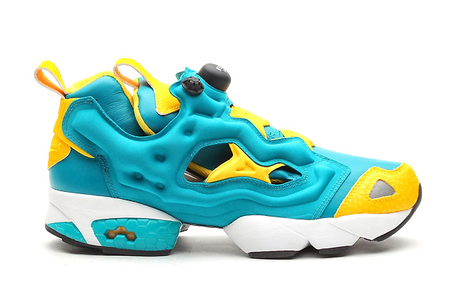 Reebok Pump Fury Teal Gem/Nuclear Yellow