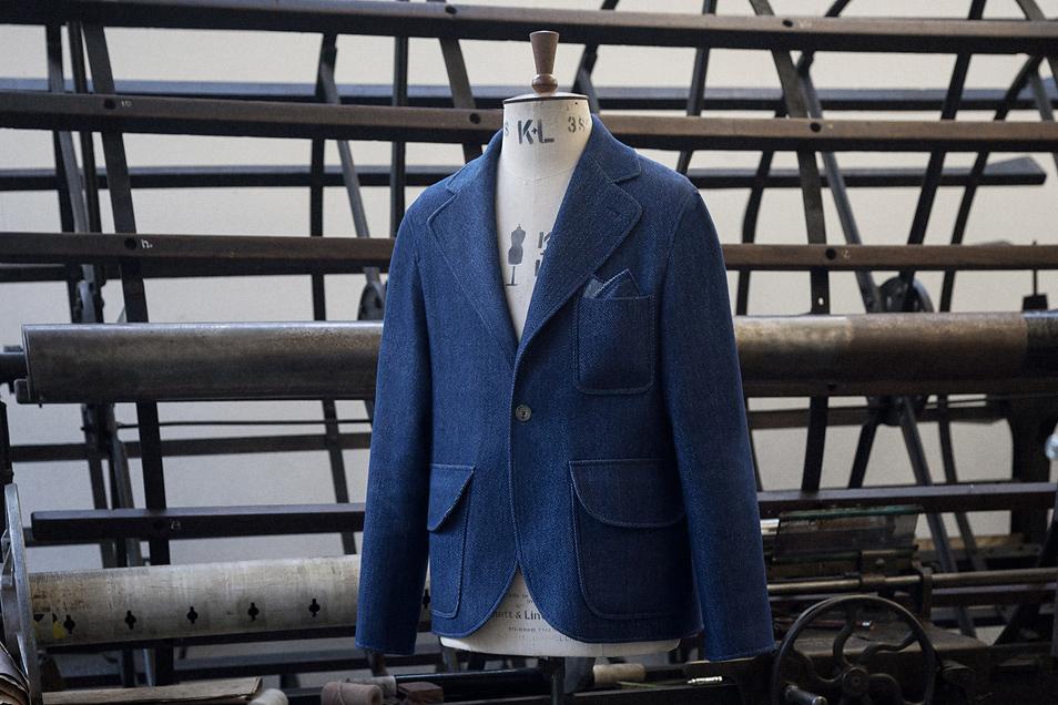 S.E.H Kelly Rope-Dyed Indigo One-Button Blazer