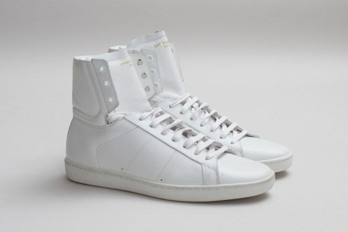 Saint Laurent SL/01H High Top Sneaker Optical White