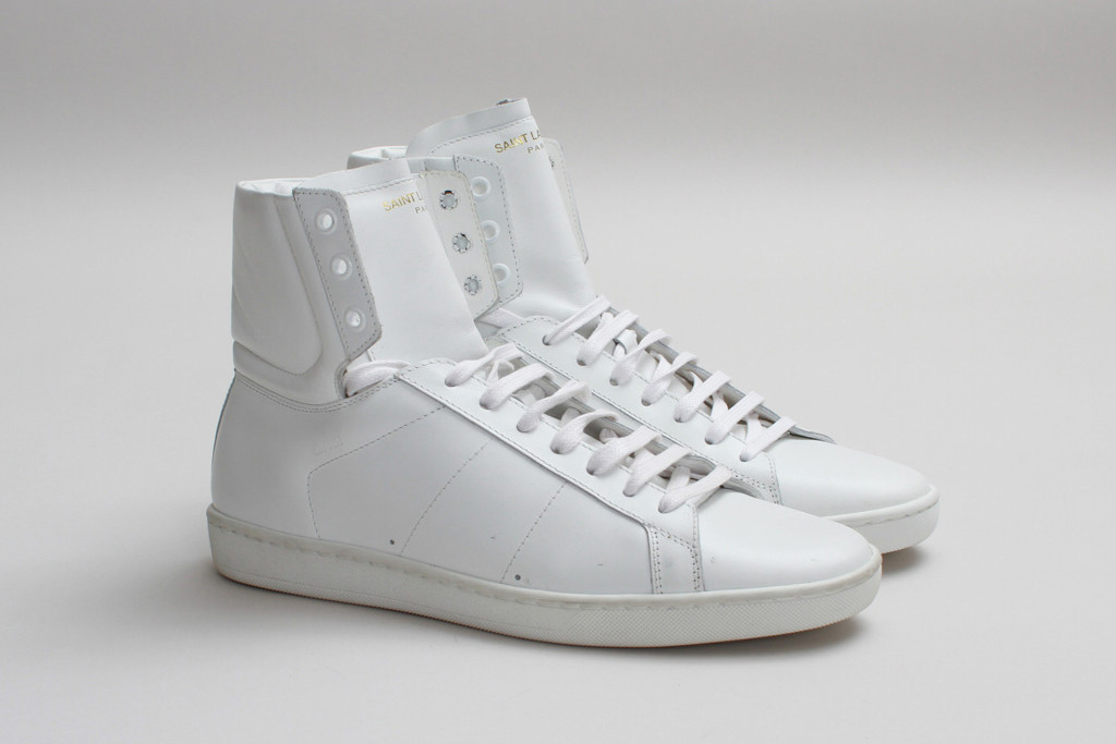 Saint Laurent SL/01H High Top Sneaker Optical White