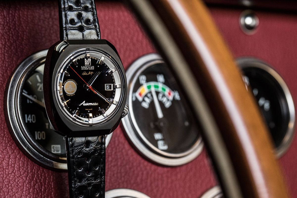 shelby x march la b am3 50th anniversary shelby cobra watch