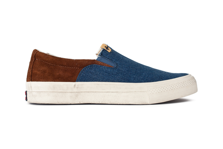 visvim 2013 summer skagway slip on denim