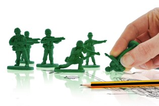 """""""War On Error"""" Army Men Erasers"""