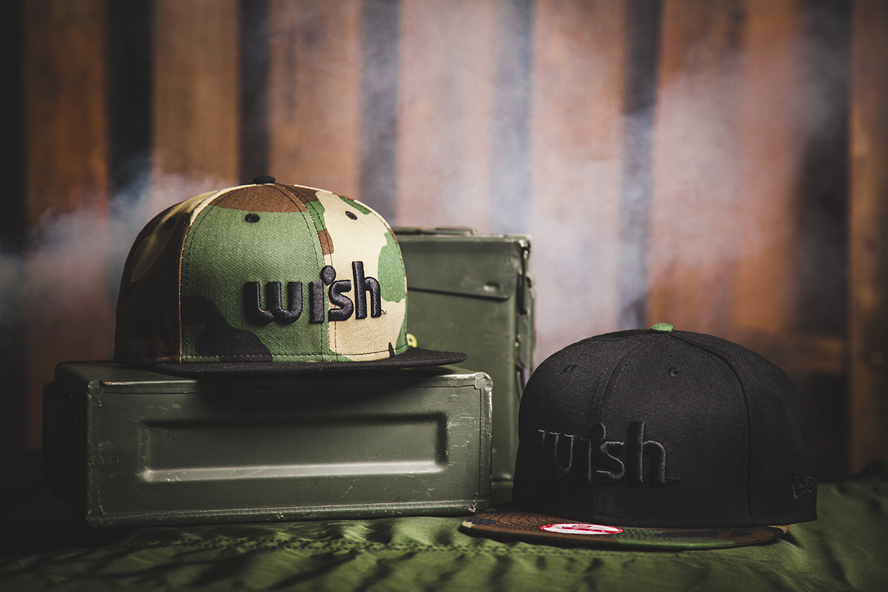 wish 2013 spring summer woodland camo snapback pack