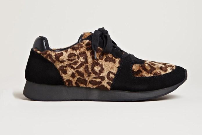 Yohji Yamamoto Leopard Fur Sneakers