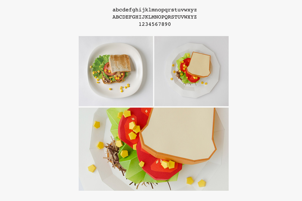 your favorite typefaces as food dishes