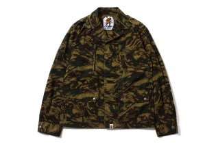 A Bathing Ape 2013 Fall/Winter LIZARD CAMO MILITARY JACKET
