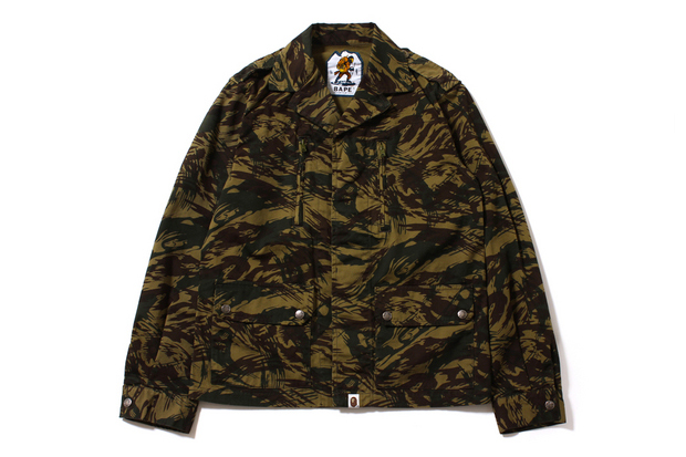 a bathing ape 2013 fall winter lizard camo military jacket