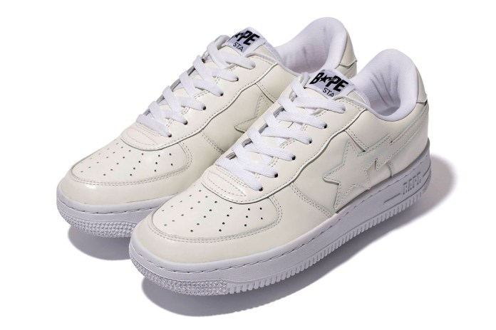 A Bathing Ape WHITE LEATHER BAPE STA