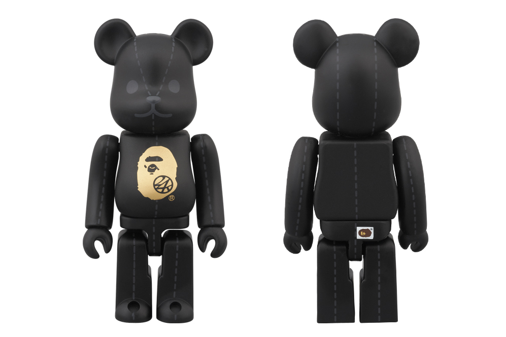 a bathing ape x 24karats x medicom toy 100 bearbrick