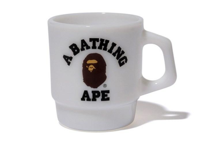 A Bathing Ape x Fire-King College Mug
