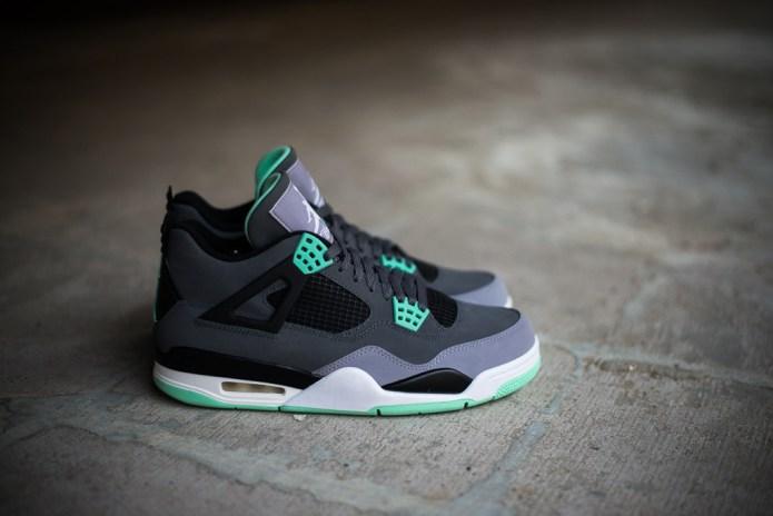 "A Closer Look at the Air Jordan 4 Retro ""Green Glow"""