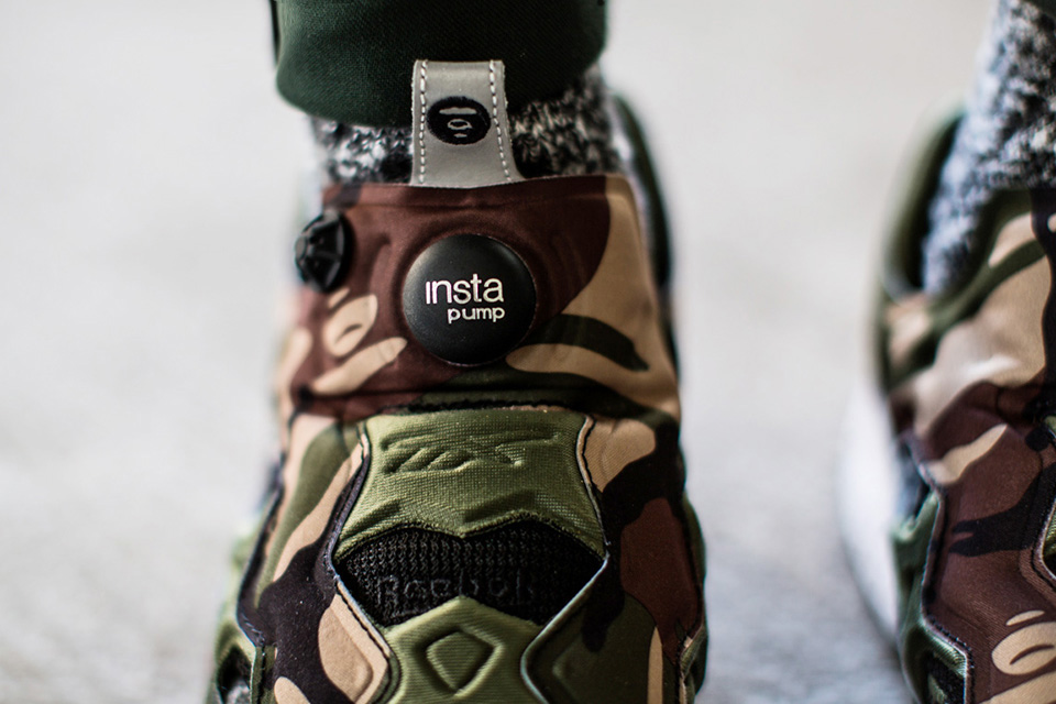 aape by a bathing ape x reebok pump fury camo