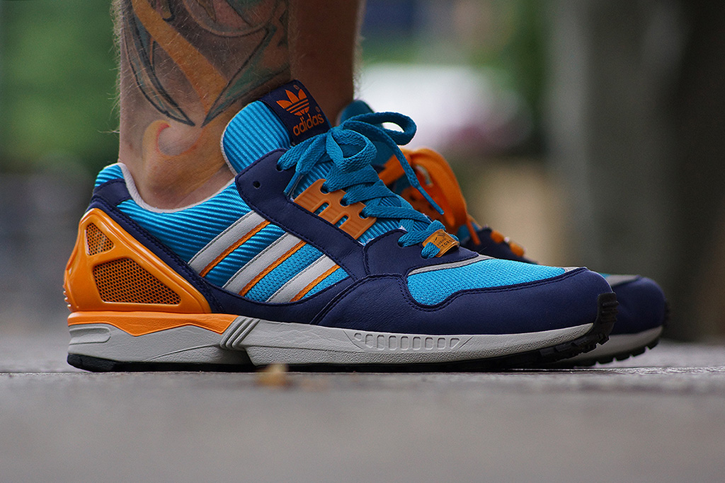 adidas originals 2013 fall winter zx 9000 turquoise metallic silver orange