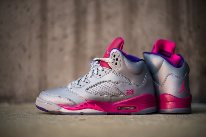 Air Jordan 5 Retro Women's Cement/Pink-Raspberry