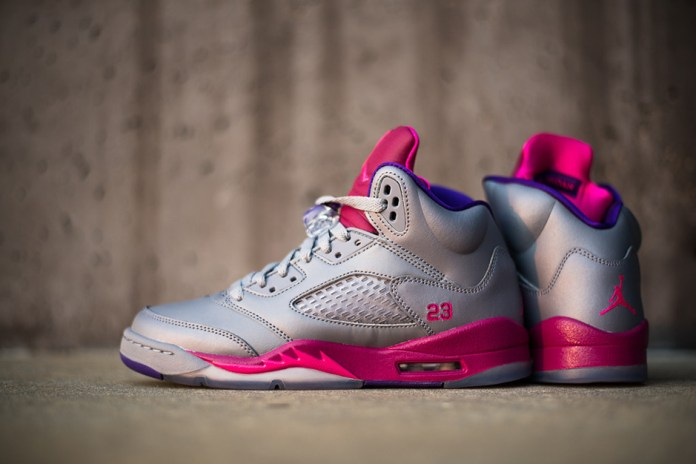 Air Jordan 5 Retro Women's Cement/Pink-Raspberry