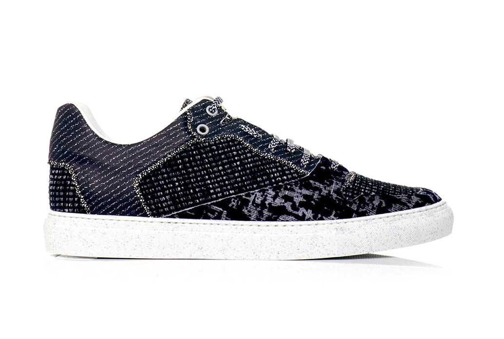 Balenciaga 2013 Fall/Winter Tweed and Leather Sneakers