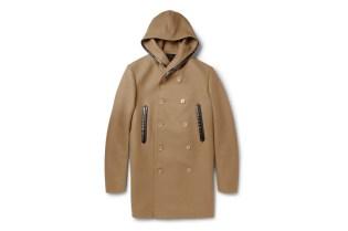 Balenciaga Wool-Blended Hooded Coat