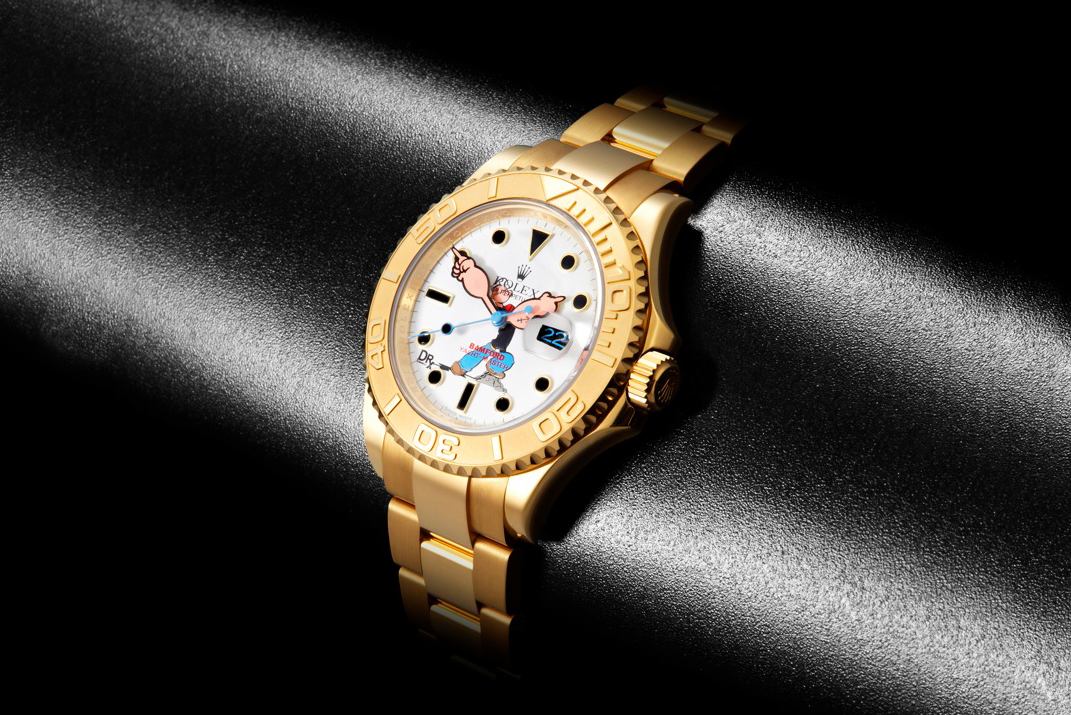 drxromanelli x bamford watch department special edition popeye rolex yachtmaster