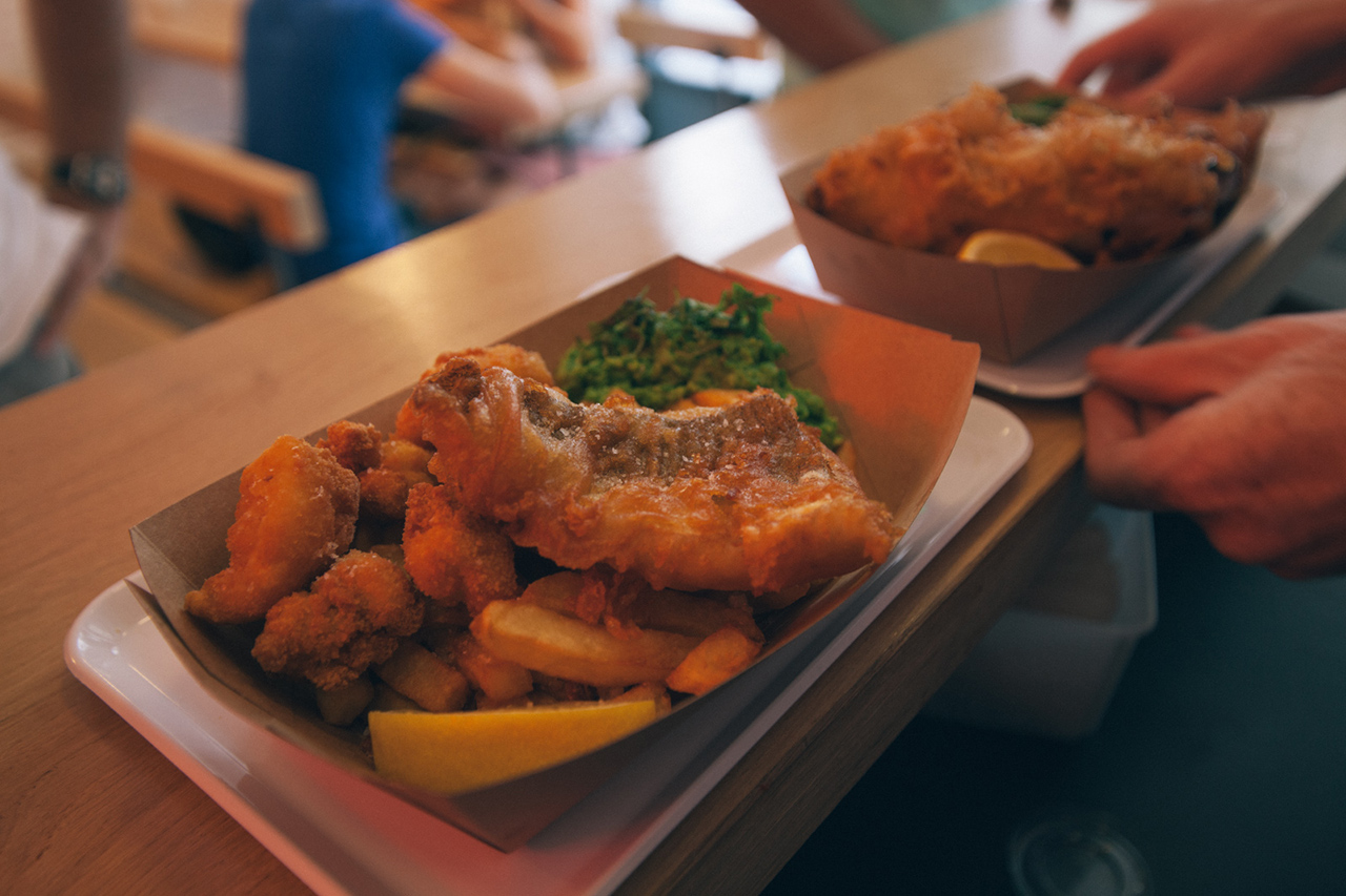 a case for fish n chips in paris at the sunken ship