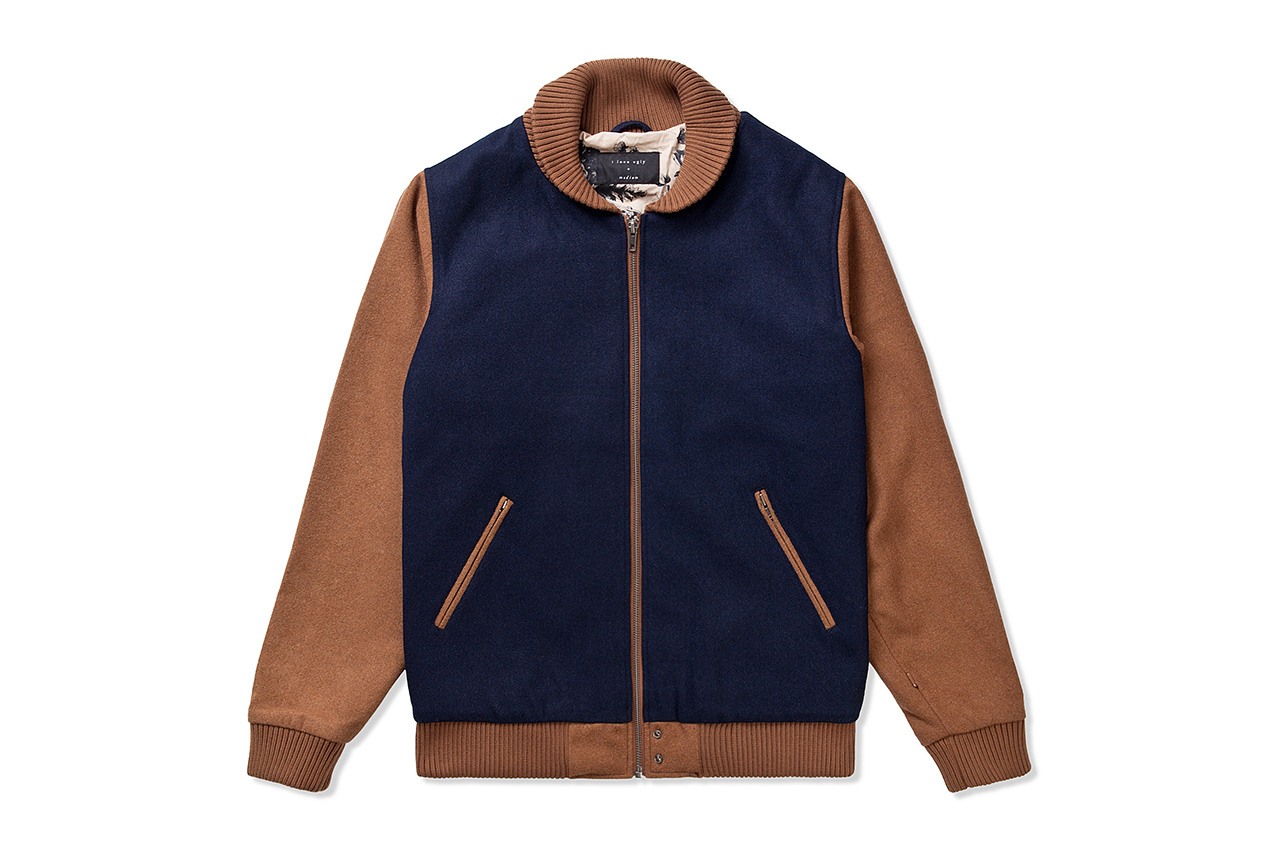 I Love Ugly Navy Two Tone Bomber