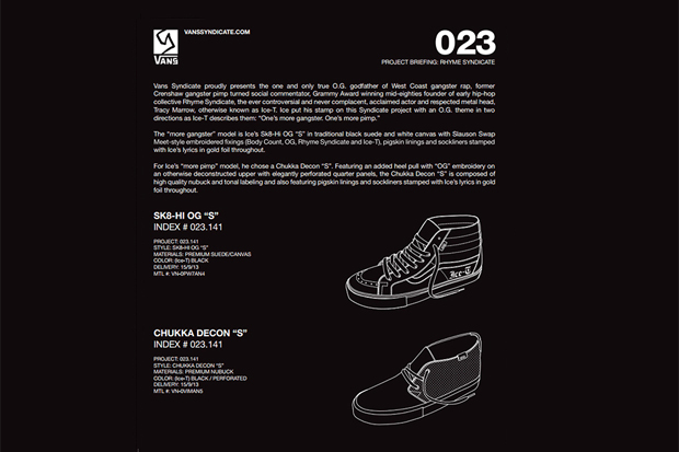 Ice-T x Vans Syndicate Preview
