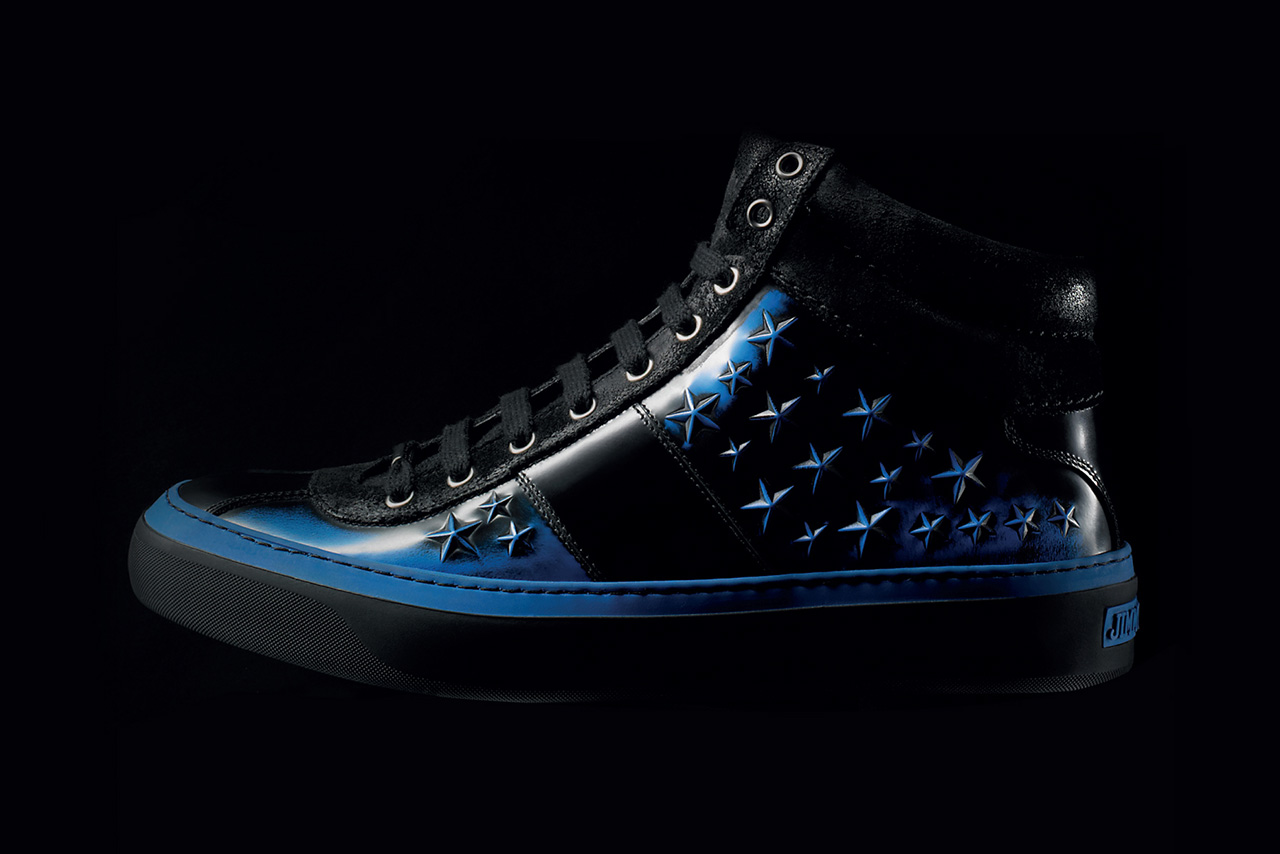 jimmy choo 2013 fall winter belgravia high top black blue