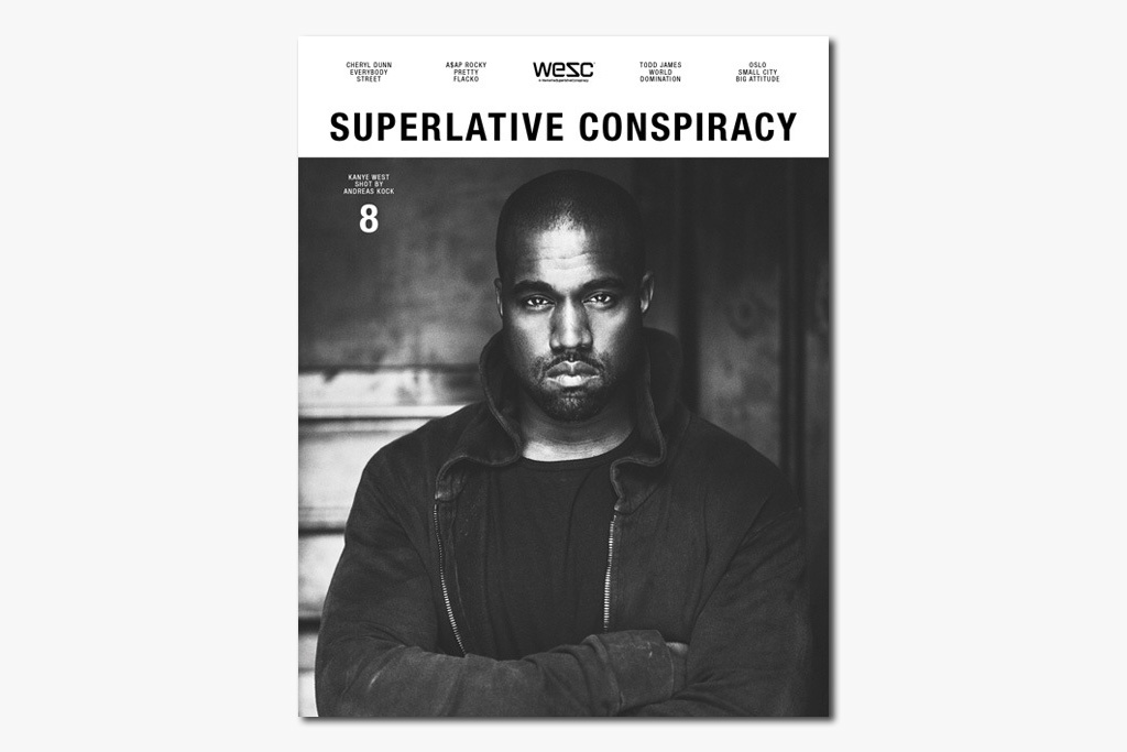 kanye west features on the cover of wescs superlative conspiracy issue 8