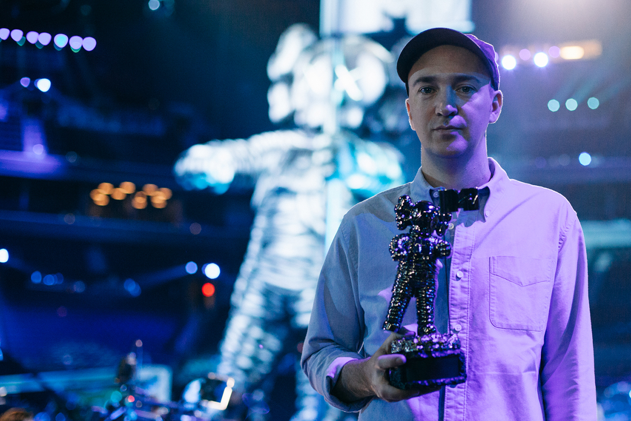 KAWS Talks Brooklyn, the VMAs, and His Redesign of the Moonman