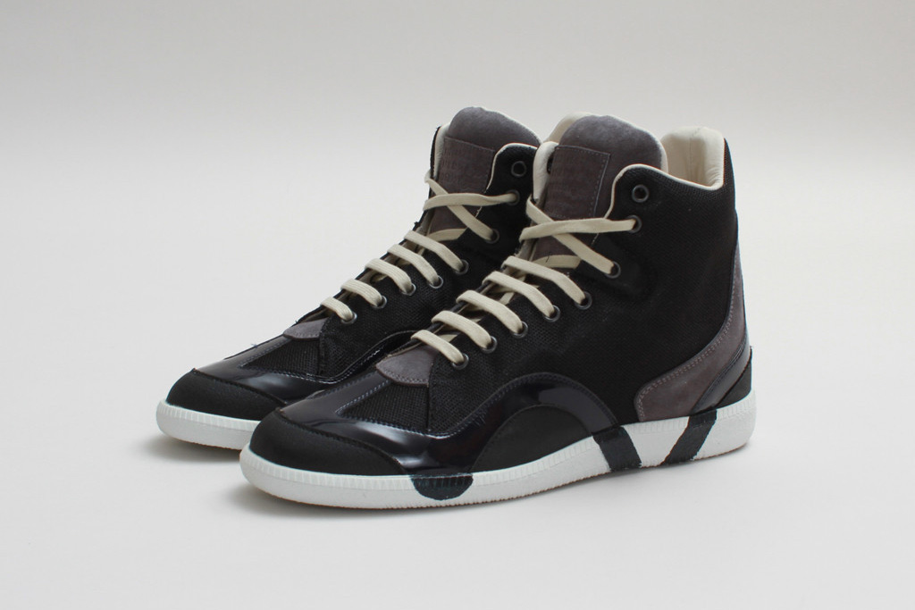maison martin margiela 2013 fall winter high top sneaker black grey
