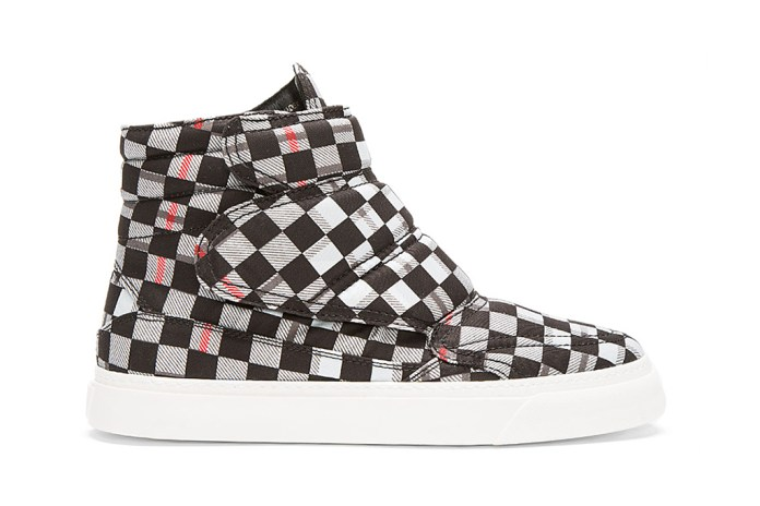 McQ Alexander McQueen Black Tartan High-Top Sneakers