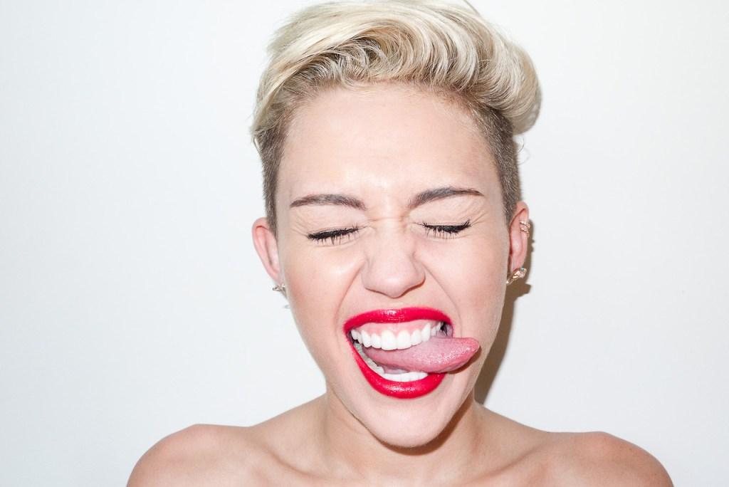 Miley Cyrus Visits Terry Richardson's Studio