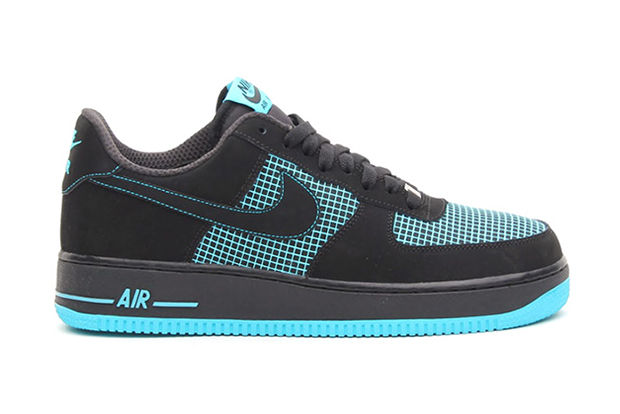 nike air force 1 black black gamma blue