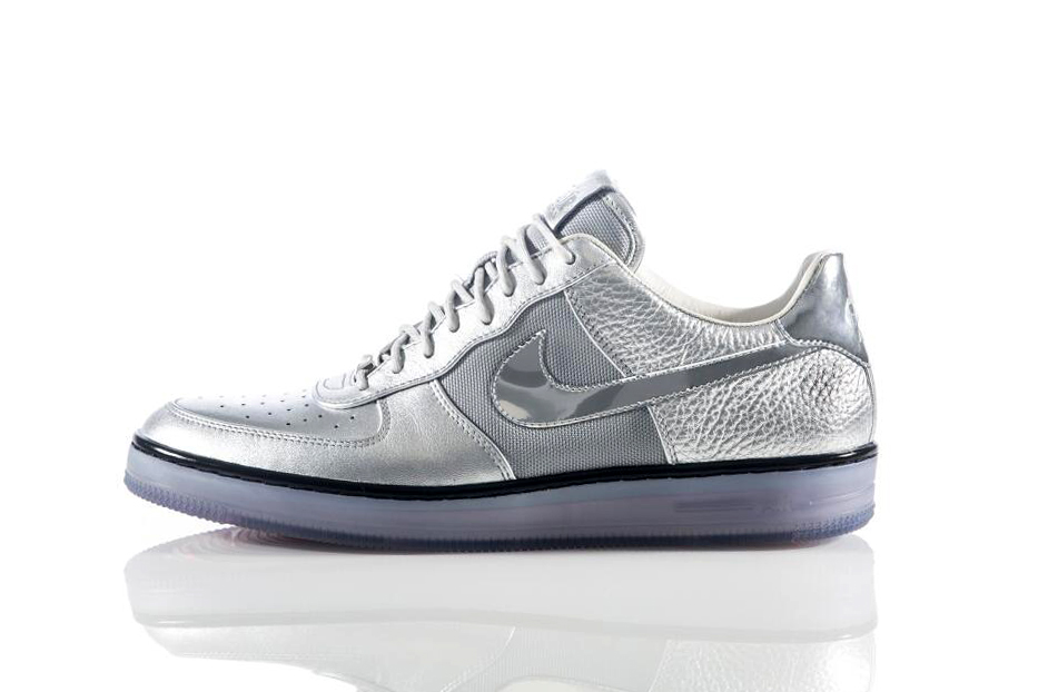 nike air force 1 downtown metallic silver