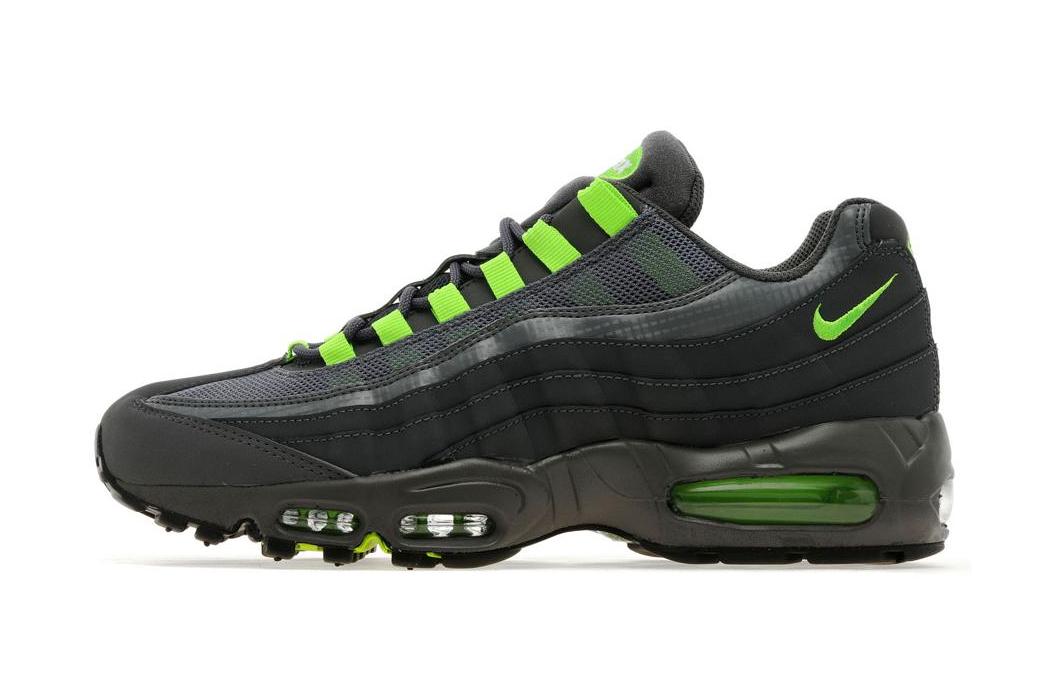 Nike Air Max 95 Dark Grey/Flash Lime JD Sports Exclusive