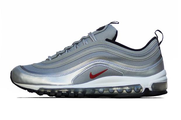 Nike Air Max 97 PRM Tape QS Metallic Silver/Varsity Red