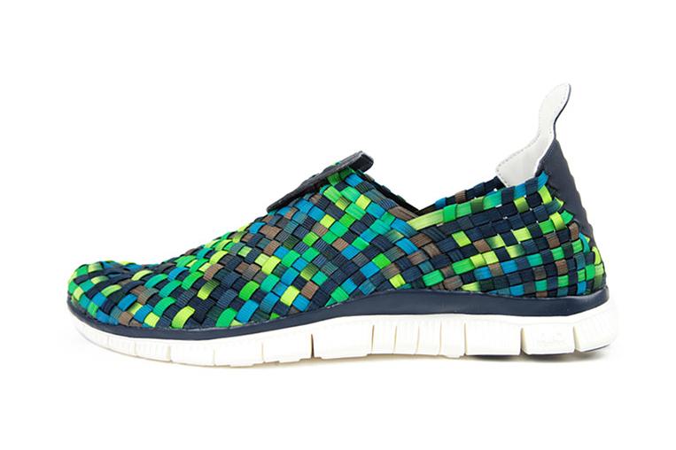 Nike Free Woven 4.0 Obsidian/Squadron Blue-Smoke-Poison Green