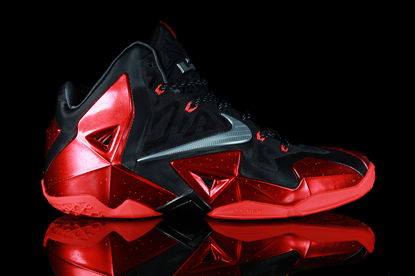 Nike LeBron 11 Black/Metallic Silver-University Red-Bright Crimson Preview