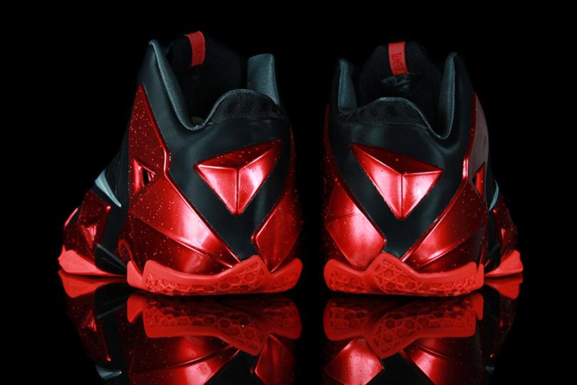 Nike LeBron 11 Black/Metallic Silver-University Red-Bright Crimson Preview