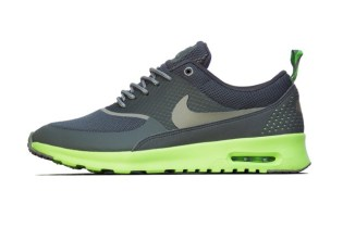 Nike Women's Air Max Thea Mercury Grey/Mine Grey/Flash Lime