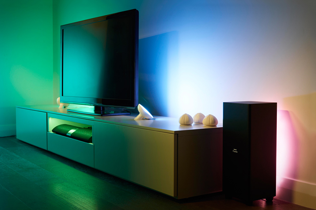 philips hue team up to introduce lightstrips livingcolors bloom