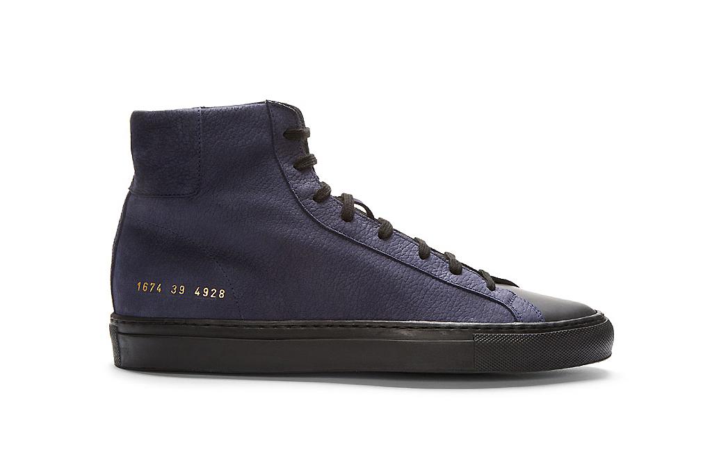 Robert Geller x Common Projects High-Top Sneakers