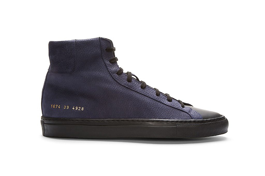 robert geller x common projects high top sneakers